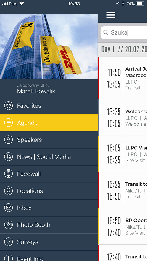 This is the conference app DHL used